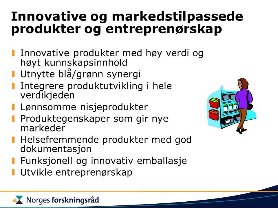 Innovative og markedstilpassede produkter og entreprenørskap