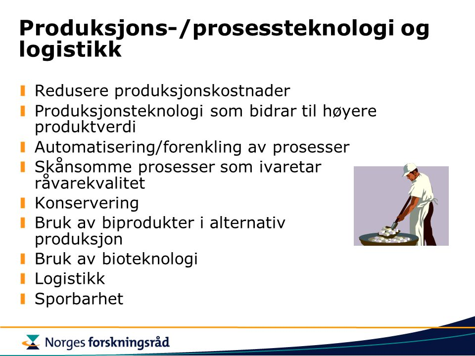 Produksjons-/prosessteknologi og logistikk
