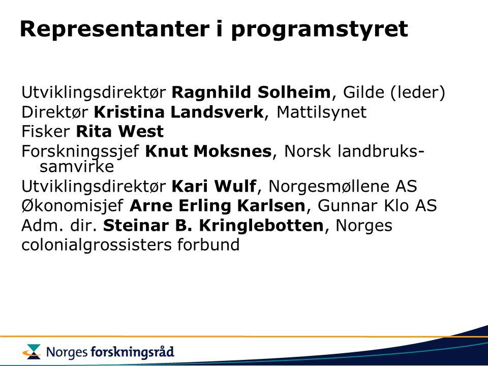 Representanter i programstyret