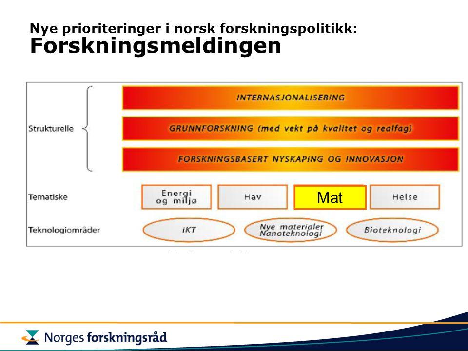 Nye prioriteringer i norsk forskningspolitikk: Forskningsmeldingen