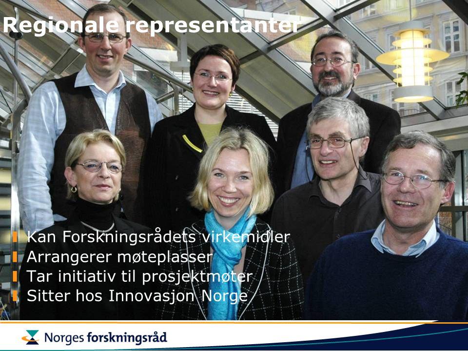 Regionale representanter