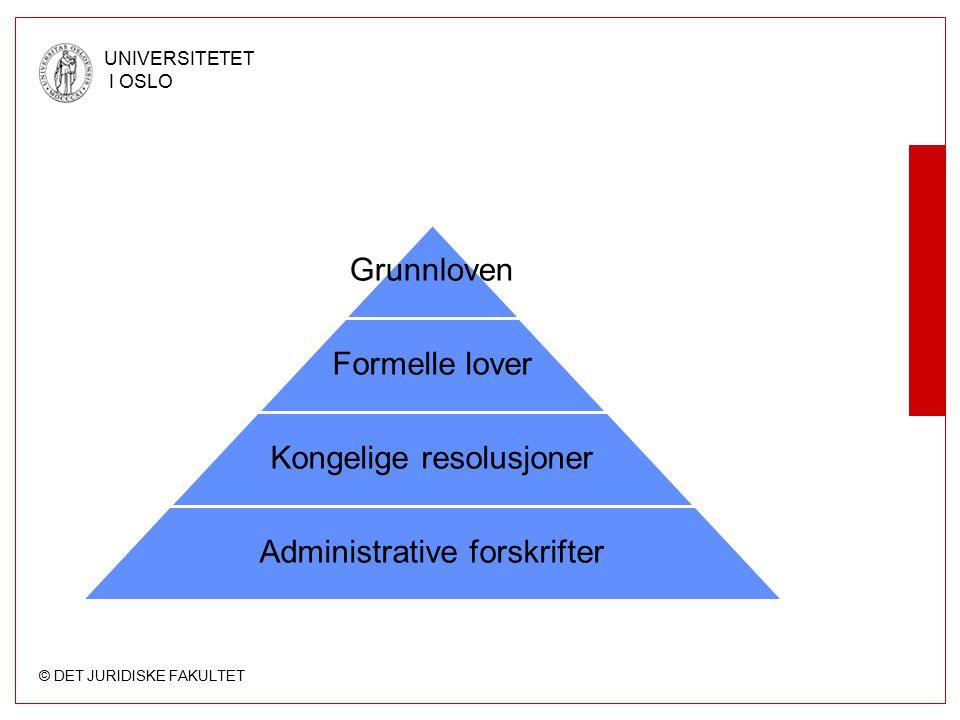 Kongelige resolusjoner Administrative forskrifter