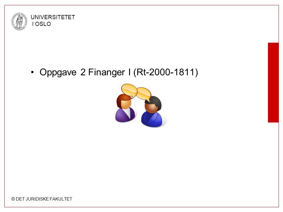 Oppgave 2 Finanger I (Rt-2000-1811)