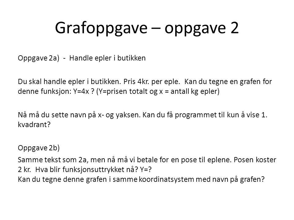 Grafoppgave – oppgave 2