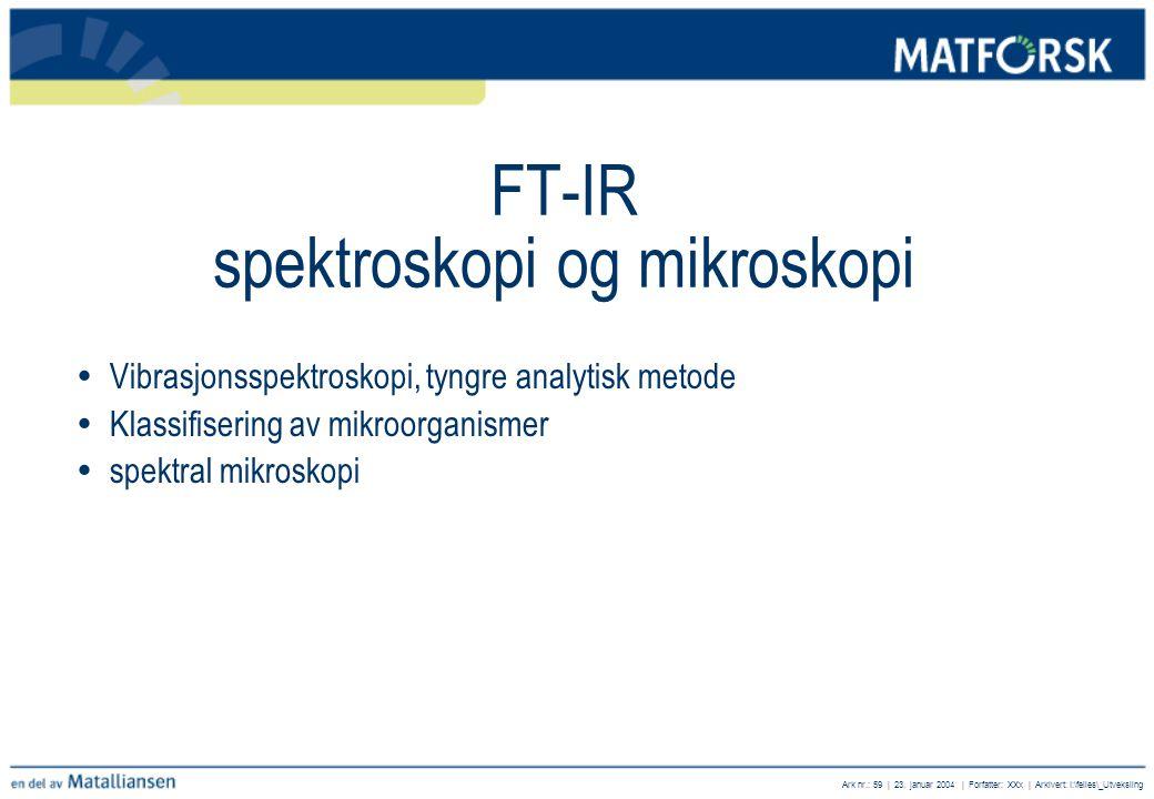 FT-IR spektroskopi og mikroskopi