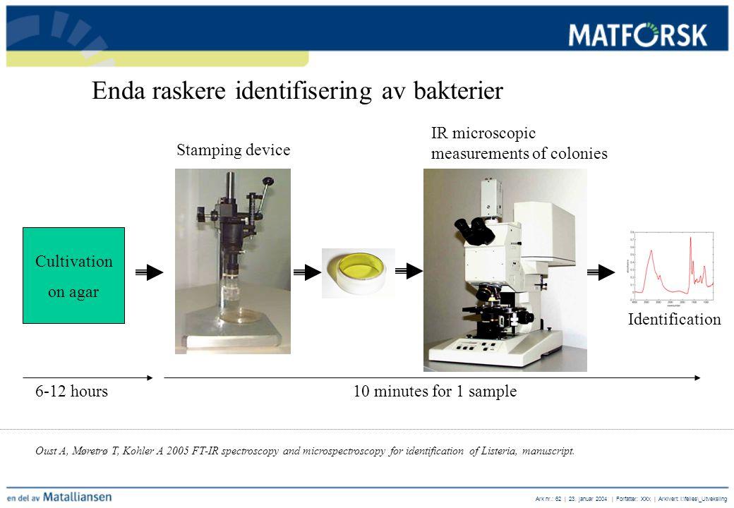 Enda raskere identifisering av bakterier