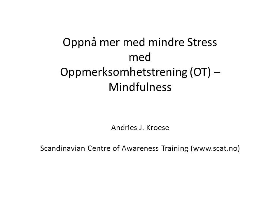 Scandinavian Centre of Awareness Training (www.scat.no)