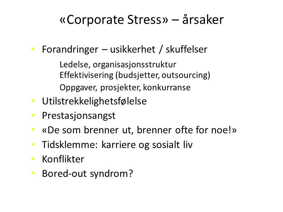 «Corporate Stress» – årsaker