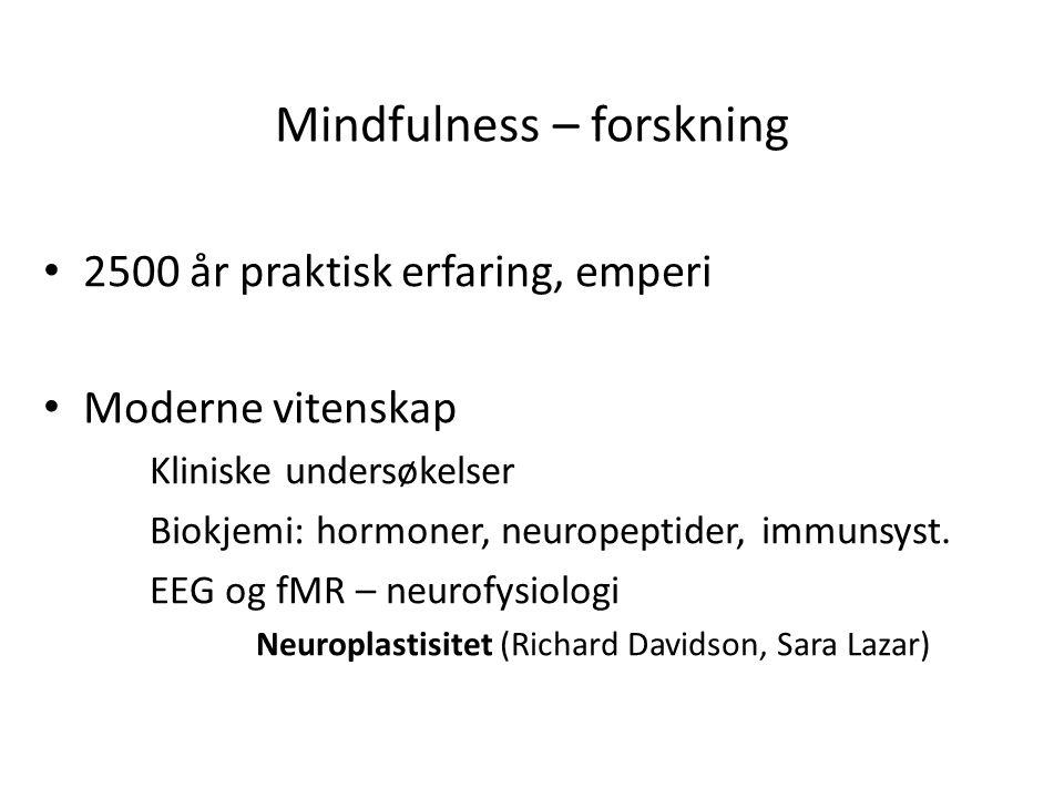 Mindfulness – forskning