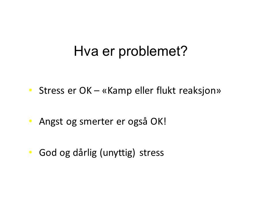 Hva er problemet Stress er OK – «Kamp eller flukt reaksjon»