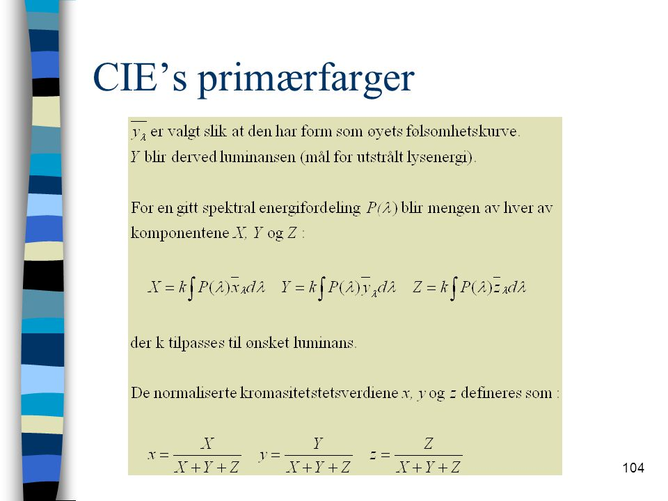 CIE's primærfarger