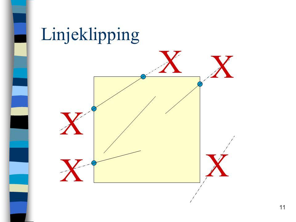 Linjeklipping X X X X X