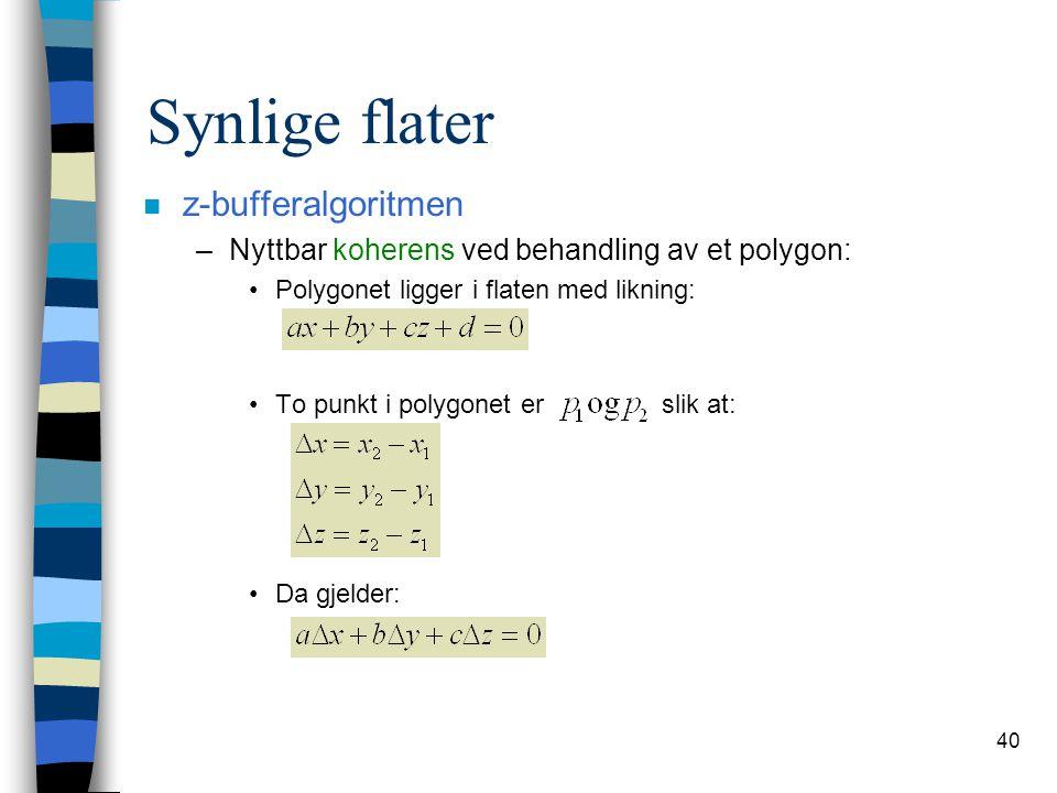 Synlige flater z-bufferalgoritmen