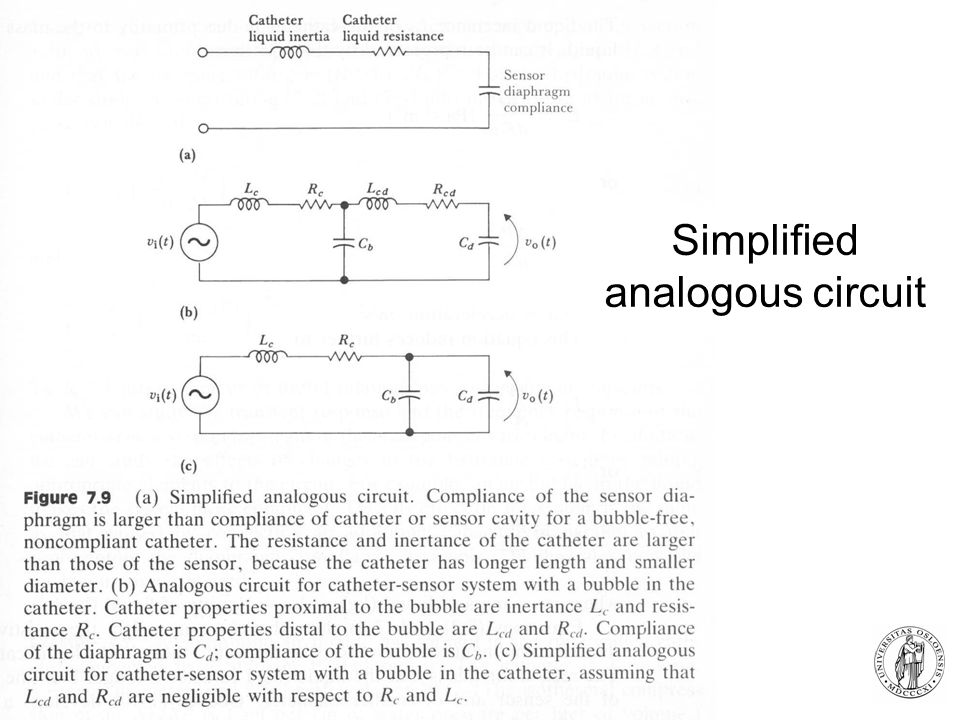 Simplified analogous circuit