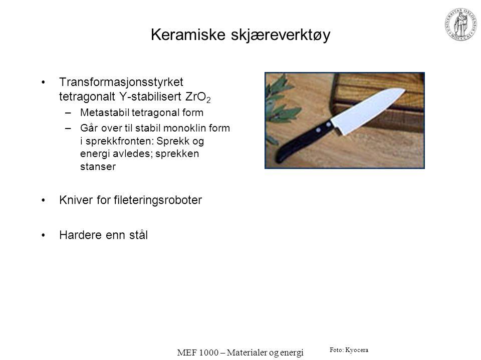 Keramiske skjæreverktøy