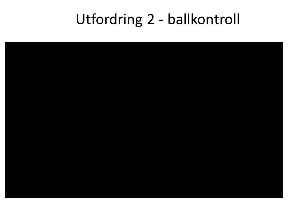 Utfordring 2 - ballkontroll