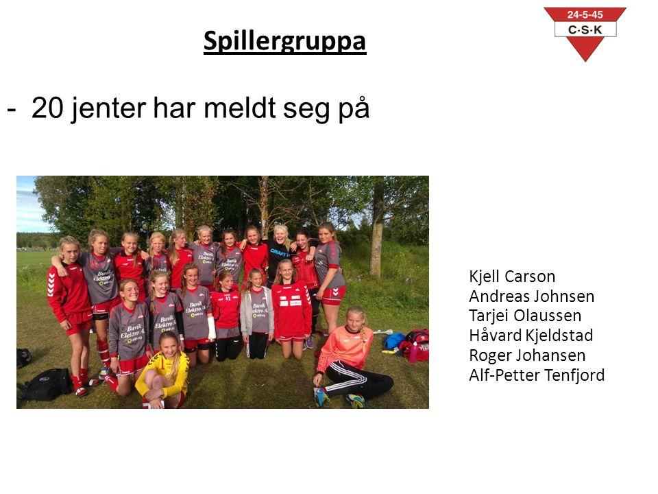 Spillergruppa 20 jenter har meldt seg på Kjell Carson Andreas Johnsen