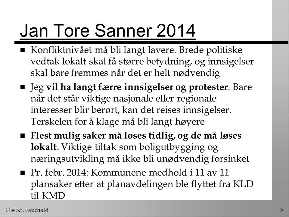 Jan Tore Sanner 2014