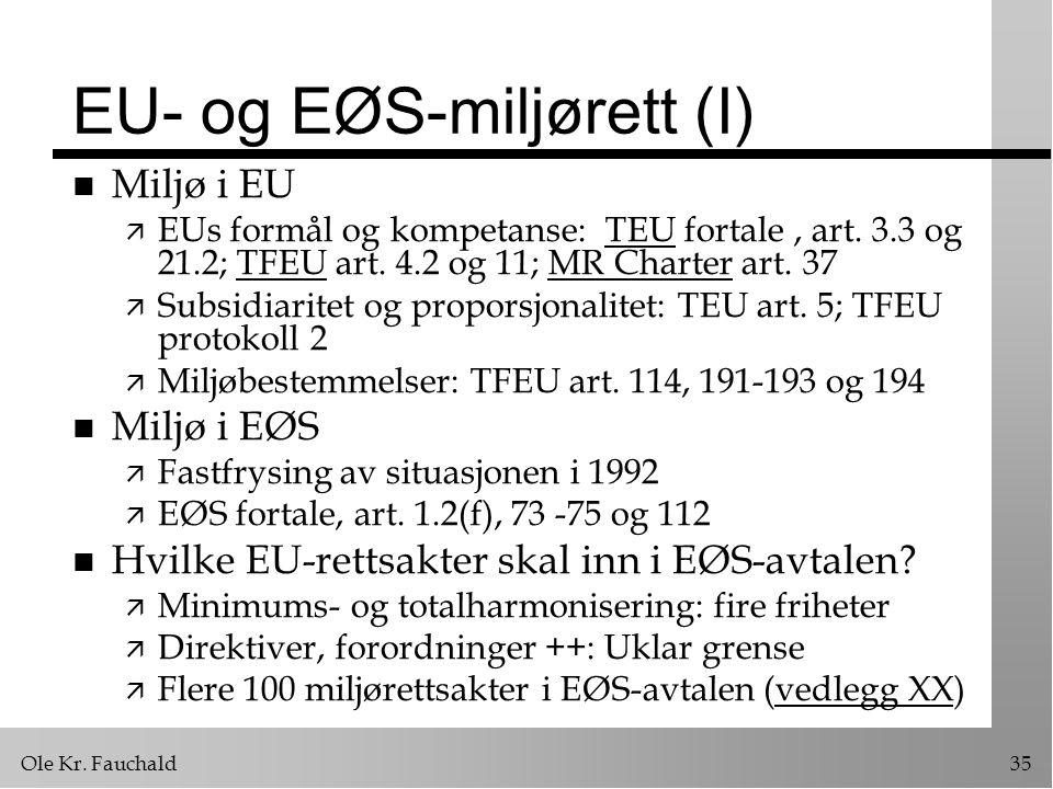 EU- og EØS-miljørett (I)