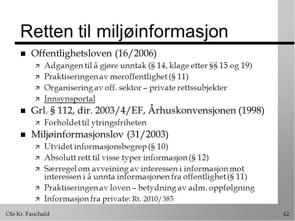 Retten til miljøinformasjon