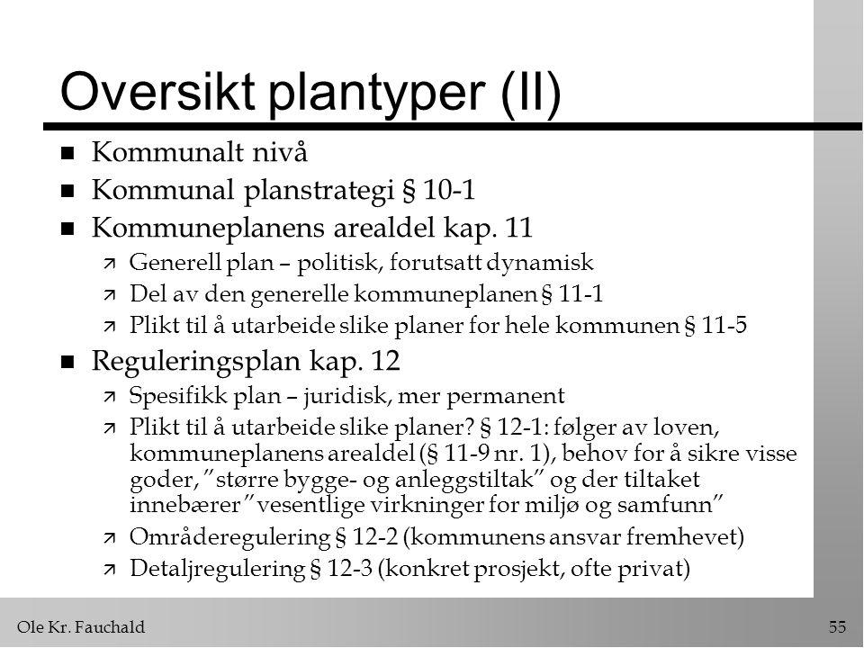 Oversikt plantyper (II)