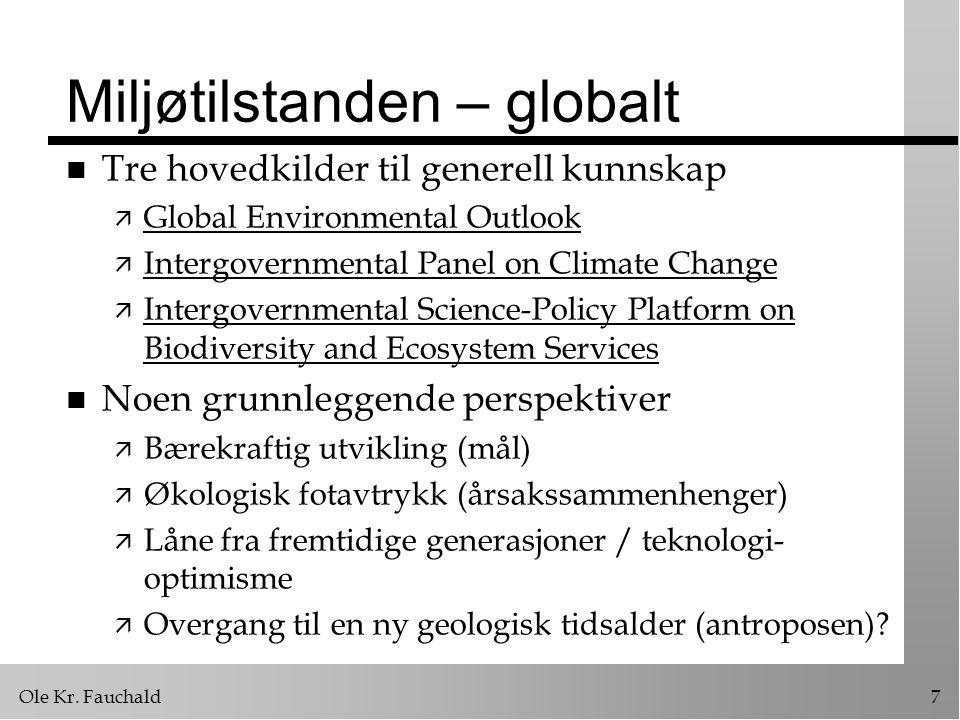 Miljøtilstanden – globalt