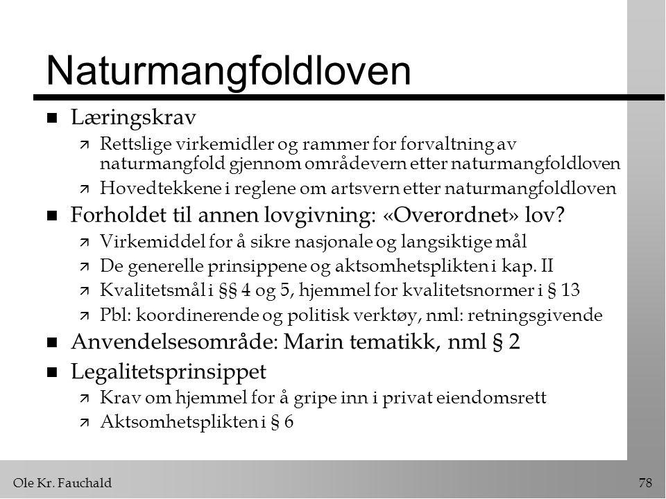 Naturmangfoldloven Læringskrav
