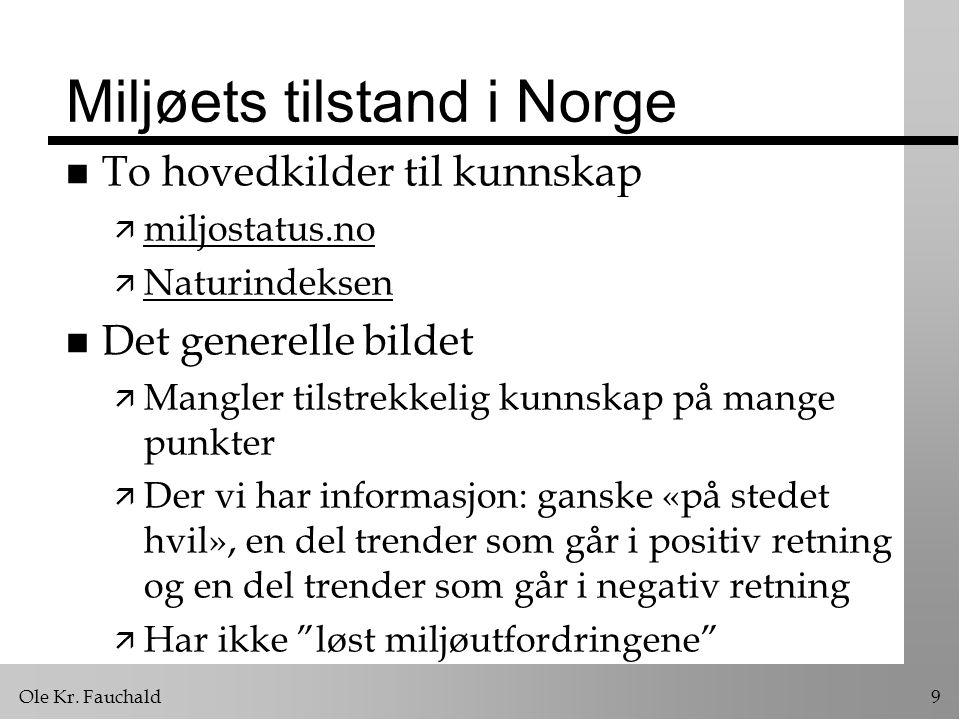 Miljøets tilstand i Norge