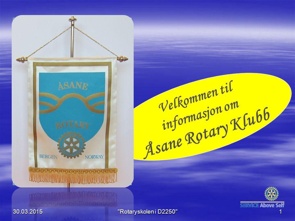 Åsane Rotary Klubb Velkommen til informasjon om