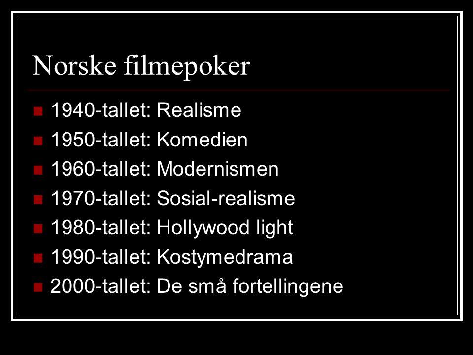 Norske filmepoker 1940-tallet: Realisme 1950-tallet: Komedien