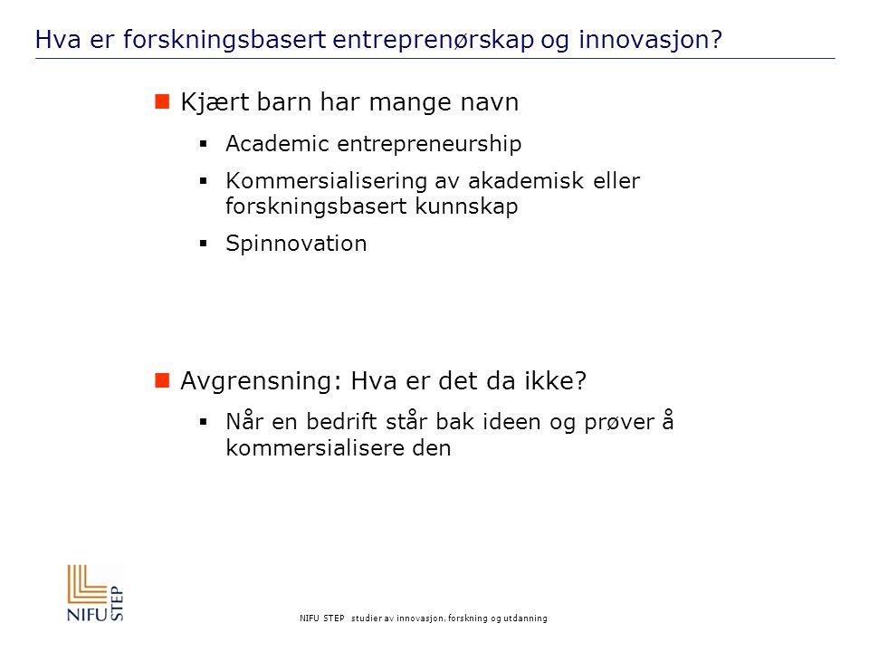 Hva er forskningsbasert entreprenørskap og innovasjon