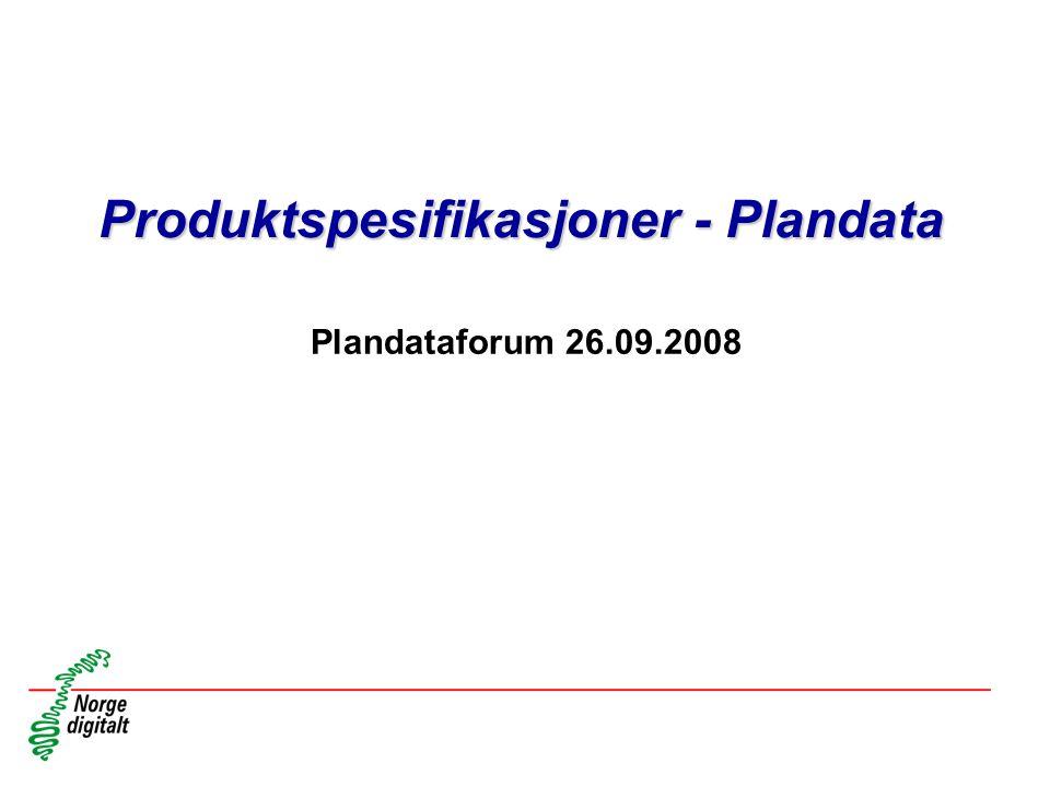 Produktspesifikasjoner - Plandata