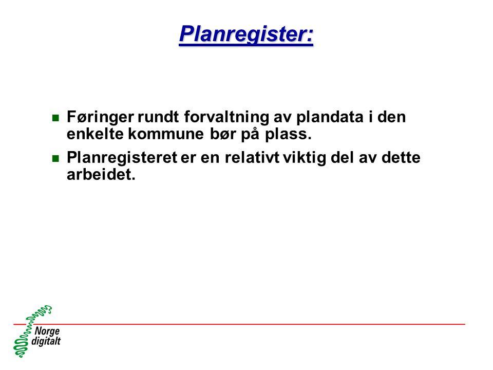 Planregister: Føringer rundt forvaltning av plandata i den enkelte kommune bør på plass.