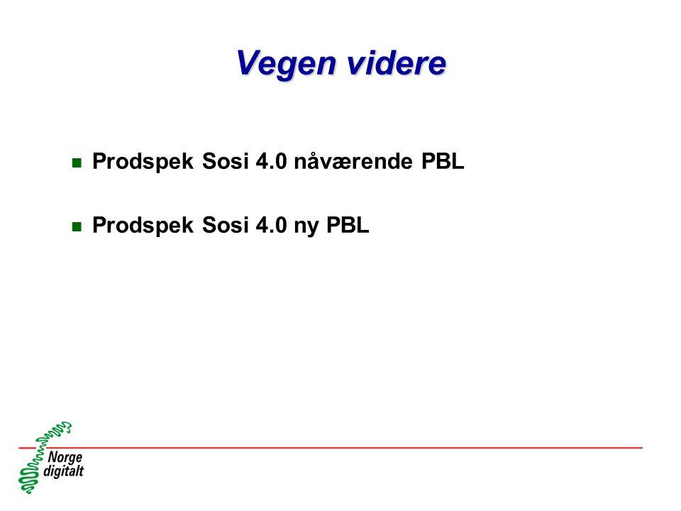 Vegen videre Prodspek Sosi 4.0 nåværende PBL Prodspek Sosi 4.0 ny PBL