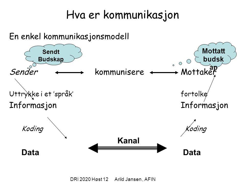 DRI 2020 Høst 12 Arild Jansen , AFIN