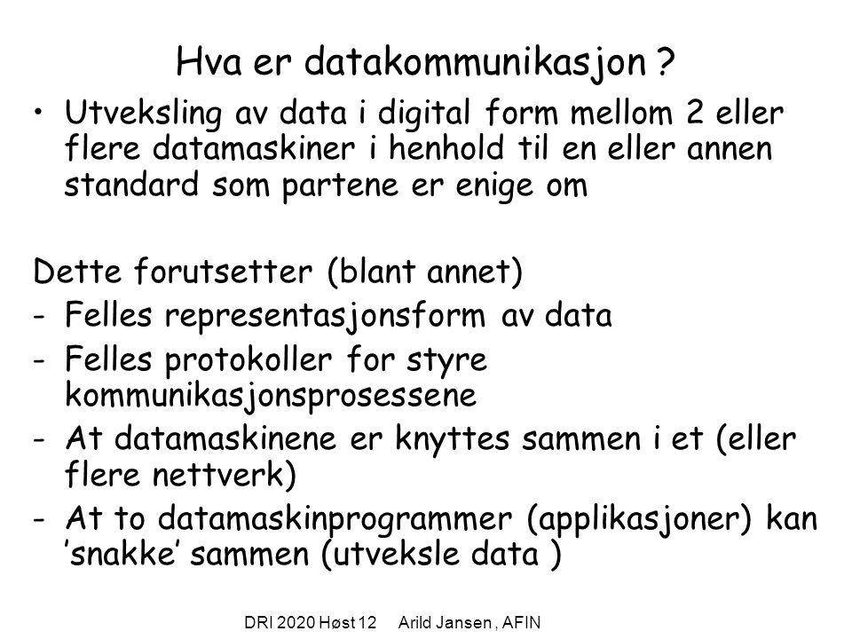 Hva er datakommunikasjon
