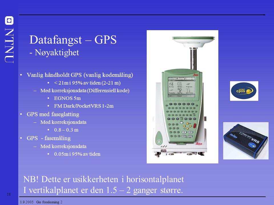 Datafangst – GPS - Nøyaktighet