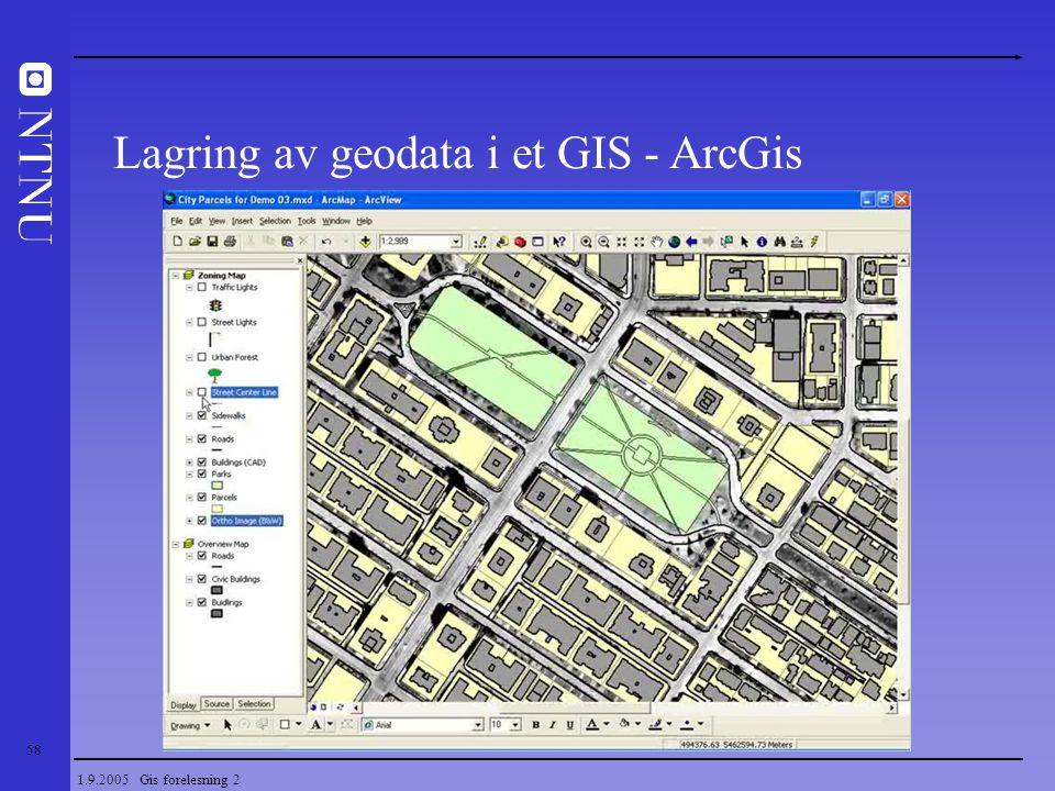 Lagring av geodata i et GIS - ArcGis