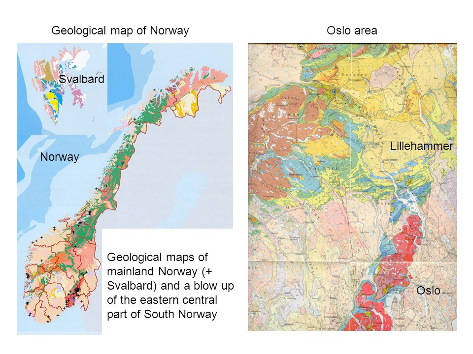 Geological map of Norway
