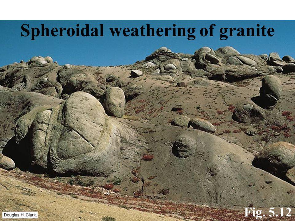 Spheroidal weathering of granite
