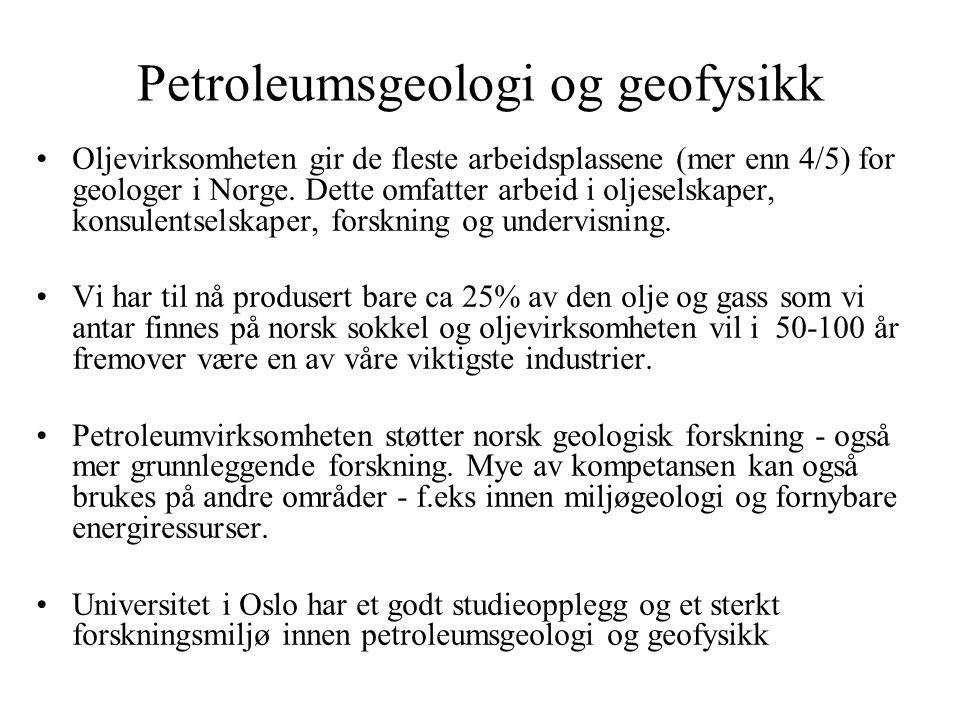 Petroleumsgeologi og geofysikk