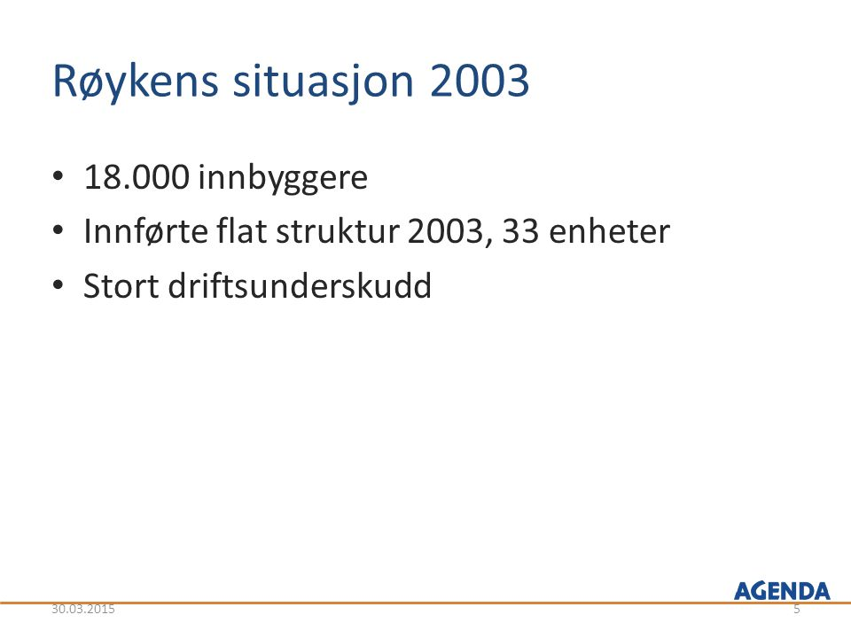 Røykens situasjon 2003 18.000 innbyggere