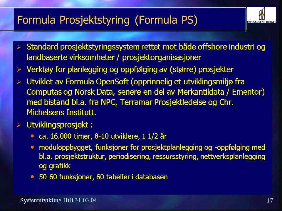 Formula Prosjektstyring (Formula PS)