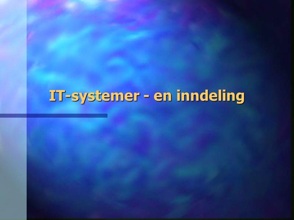 IT-systemer - en inndeling
