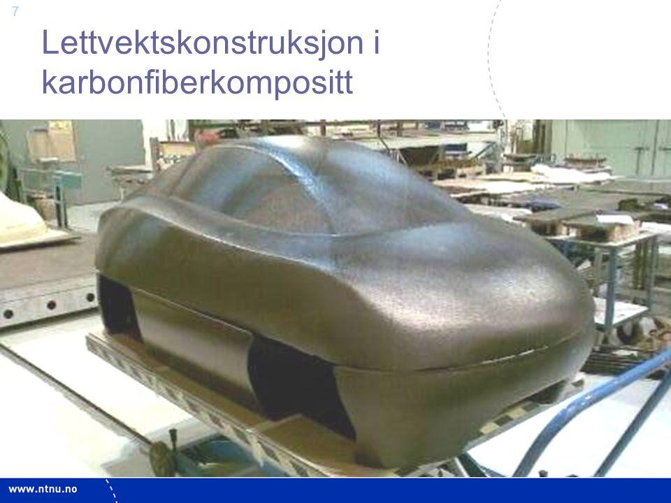 Lettvektskonstruksjon i karbonfiberkompositt