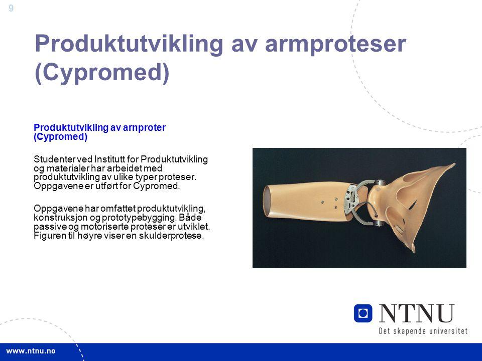 Produktutvikling av armproteser (Cypromed)
