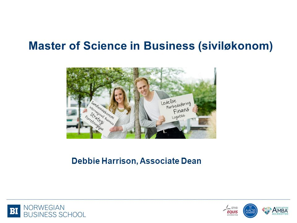 Master of Science in Business (siviløkonom)