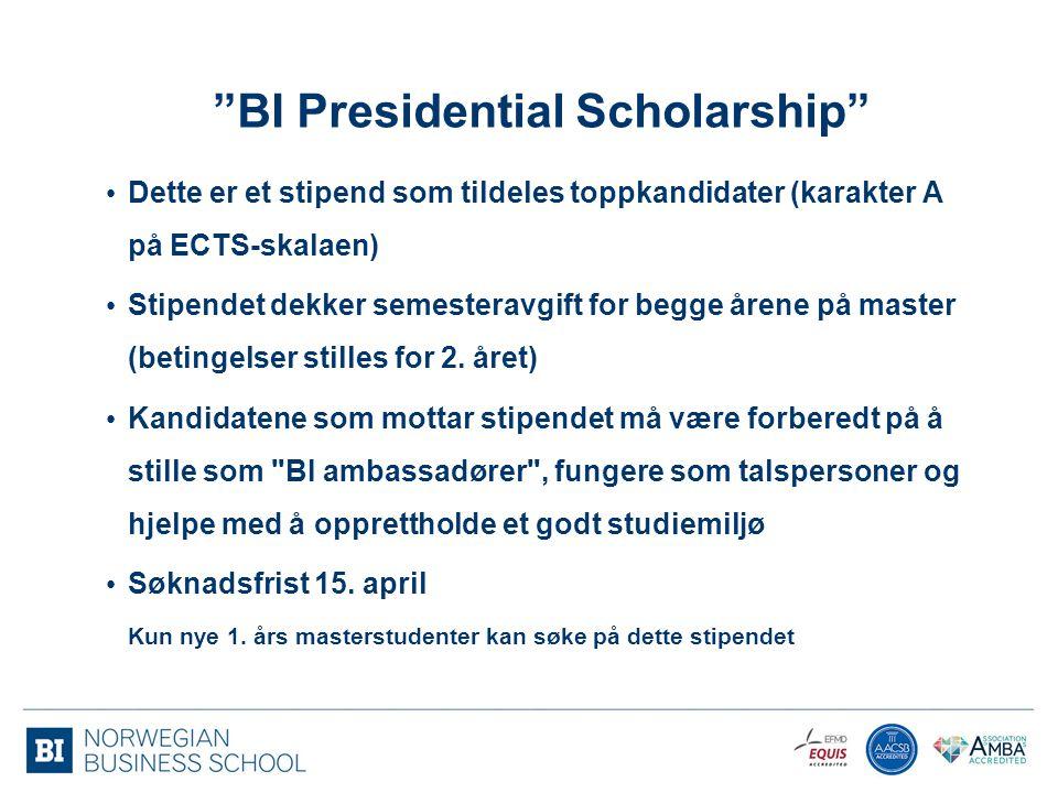 BI Presidential Scholarship