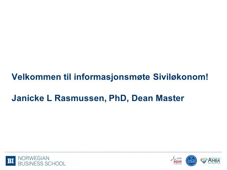 Velkommen til informasjonsmøte Siviløkonom