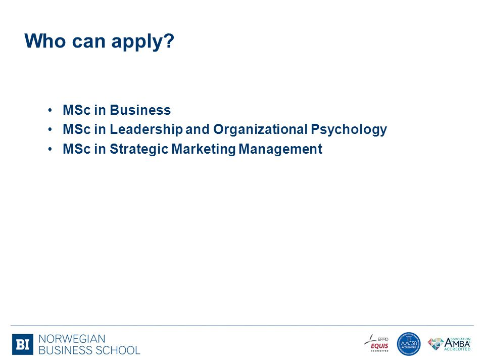 Who can apply MSc in Business